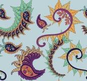 De bloem naadloos vectorpatroon van Paisley Royalty-vrije Stock Fotografie