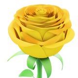 De bloem nam close-up op witte achtergrond toe 3d geef imag terug stock illustratie
