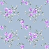 De bloem nam toe Botanische Tegel Aquarelle wilde bloem voor achtergrond, textuur royalty-vrije illustratie