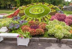 De bloem toont Landschapspark in Kiev Royalty-vrije Stock Afbeeldingen