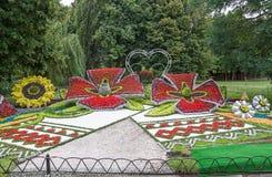 De bloem toont Landschapspark in Kiev Stock Afbeelding
