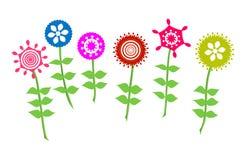 De bloem van de kleur De Vector van de bloemtuin Stock Fotografie