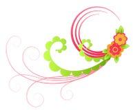 De bloem van de kleur en wijnstokkenpatroon vector illustratie