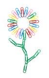 De bloem van de kleur paperclips Stock Afbeeldingen