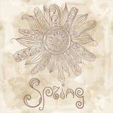 De bloem van de lente en de woordlente Royalty-vrije Stock Fotografie