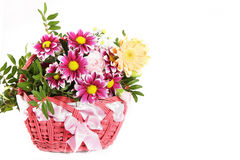 De bloem van de mand Royalty-vrije Stock Afbeelding