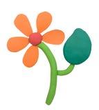 De bloem van de plasticineklei Stock Fotografie