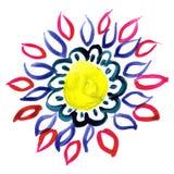 De bloem van de tekeningswaterverf Stock Fotografie