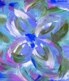 De bloem van de tekeningswaterverf Stock Foto's