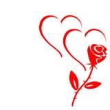 De bloem van de valentijnskaart. Stock Afbeeldingen