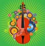De bloem van de viool vector illustratie