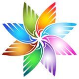 De bloem van de vleugel royalty-vrije illustratie