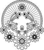 De bloem van de vogel Royalty-vrije Illustratie