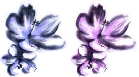 De bloem van de waterverf royalty-vrije illustratie
