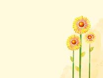 De bloem van de waterverf Stock Foto