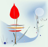 De bloem van de winter stock illustratie