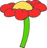 De bloem van het beeldverhaal Royalty-vrije Stock Foto