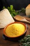 De Bloem van het graan - Italiaanse Polenta Stock Afbeelding