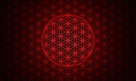 De bloem van het rood van het het levenssymbool vector illustratie