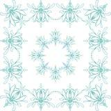 De bloem van de iris Naadloos lineair patroon op witte achtergrond royalty-vrije illustratie