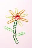 De bloem van Paperclip Royalty-vrije Stock Foto