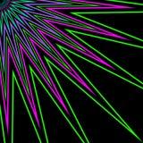 De Bloem Veelkleurige Ray van de ster Stock Afbeeldingen