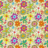 De bloem vult Kleurrijke Naadloze Pattern_eps vector illustratie