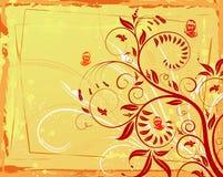De bloemachtergrond van Grunge Royalty-vrije Stock Afbeeldingen