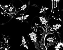 De bloemachtergrond van Grunge Stock Foto