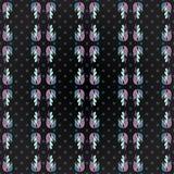 De bloembloemblaadjes op een geometrische achtergrond grunge effect Samenvatting kleurden naadloos vectorpatroon Stock Foto's