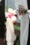 De bloemdecoratie van het huwelijk Stock Fotografie