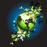 De bloemen achtergrond van de Aarde vector illustratie