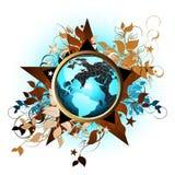 De bloemen achtergrond van de Aarde royalty-vrije illustratie