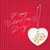 De bloemen achtergrond van de Dag van de Valentijnskaart ` s Royalty-vrije Stock Foto's