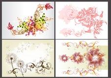 De bloemen achtergronden ontwerpen vectorreeks Stock Afbeelding