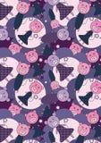 De Bloemen Background_eps van varkens Royalty-vrije Stock Foto's