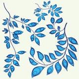 De bloemen Elementen van het Ontwerp Stock Afbeelding