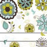 De bloemen en Achtergrond van de Aard voor Uw Tekst Royalty-vrije Stock Afbeeldingen
