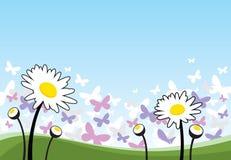 De bloemen en de vlinders van de lente Royalty-vrije Stock Fotografie