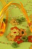 De bloemen en het lint van het glas Royalty-vrije Stock Fotografie