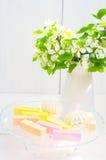 De bloemen en het zefier van Apple Stock Foto's