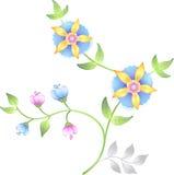 De bloemen geplaatste elementen van het decor Royalty-vrije Stock Afbeelding