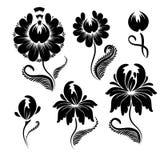 De bloemen grafische vector van ontwerpelementen Royalty-vrije Stock Afbeelding