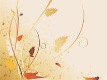 De bloemen grangy achtergrond van Autemn stock illustratie