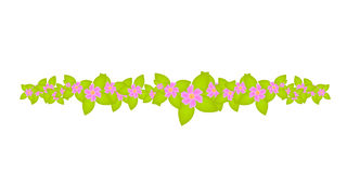 De bloemen grens van het decoratieornament Royalty-vrije Stock Afbeeldingen