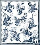 De bloemen inzameling van het ontwerpelement Royalty-vrije Illustratie