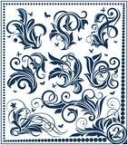 De bloemen inzameling van het ontwerpelement Stock Illustratie