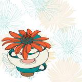De bloemen kaart van de vakantieValentijnskaart Stock Foto