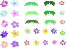 De bloemen Mengeling van de Pagina Royalty-vrije Stock Foto's