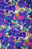 De bloemen Textuur van de Stof Stock Fotografie